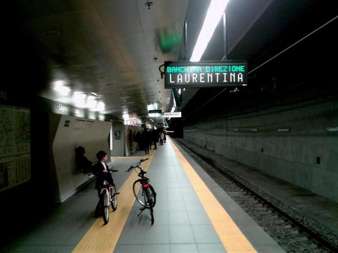 Bici in metro a Roma
