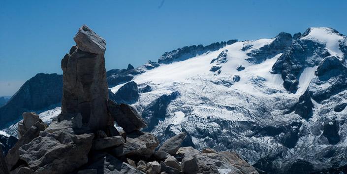Il ghiacciaio della marmolada